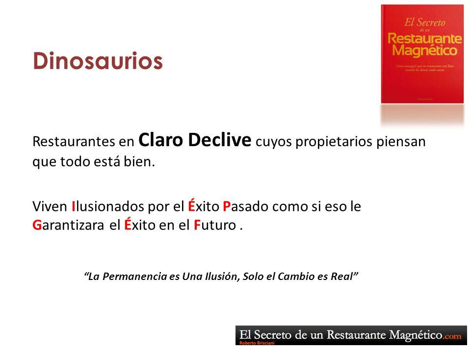 Dinosaurios Restaurantes en Claro Declive cuyos propietarios piensan