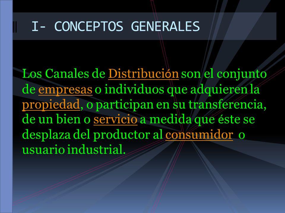 I- CONCEPTOS GENERALES