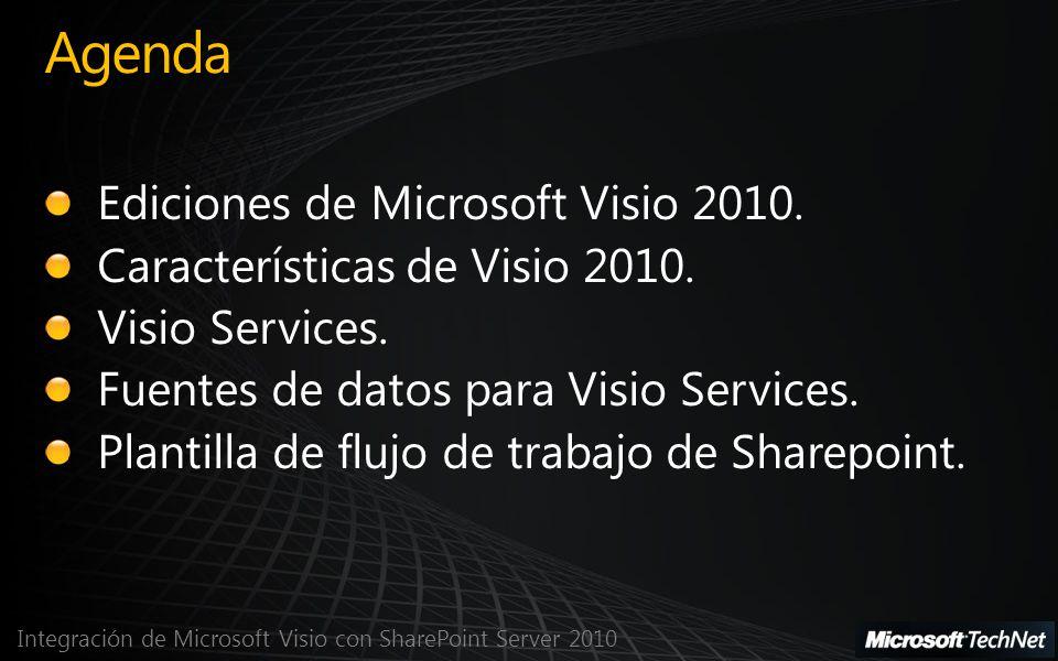 Agenda Ediciones de Microsoft Visio 2010.