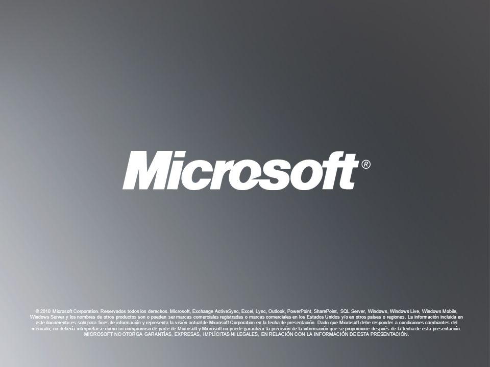 © 2010 Microsoft Corporation. Reservados todos los derechos