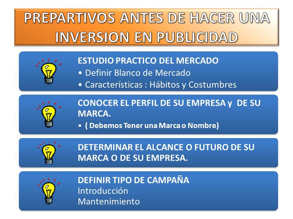PREPARTIVOS ANTES DE HACER UNA INVERSION EN PUBLICIDAD