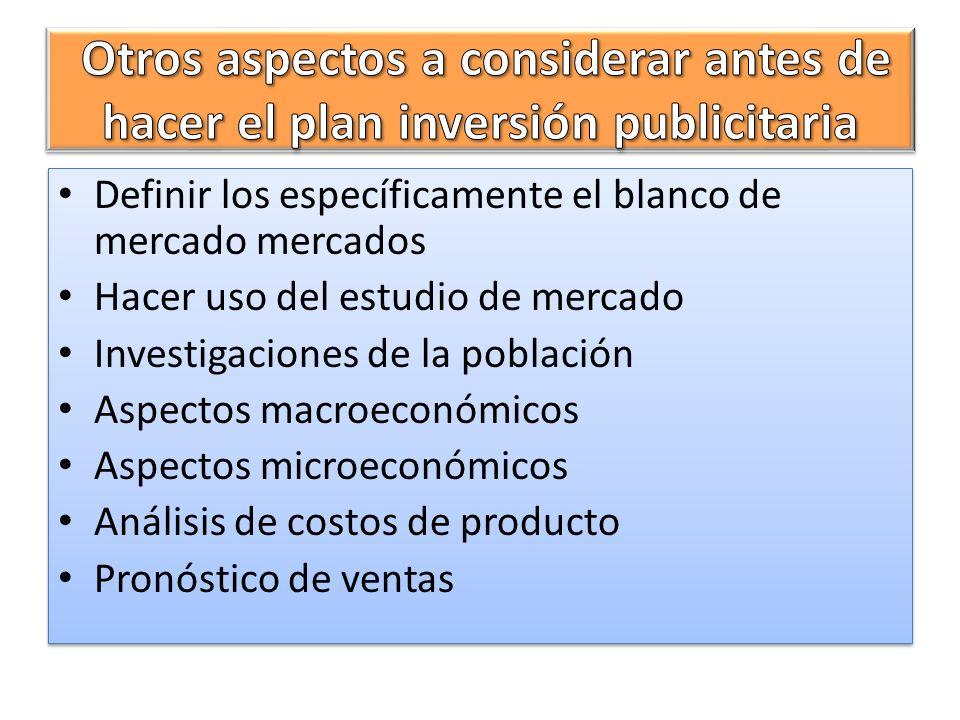 Otros aspectos a considerar antes de hacer el plan inversión publicitaria