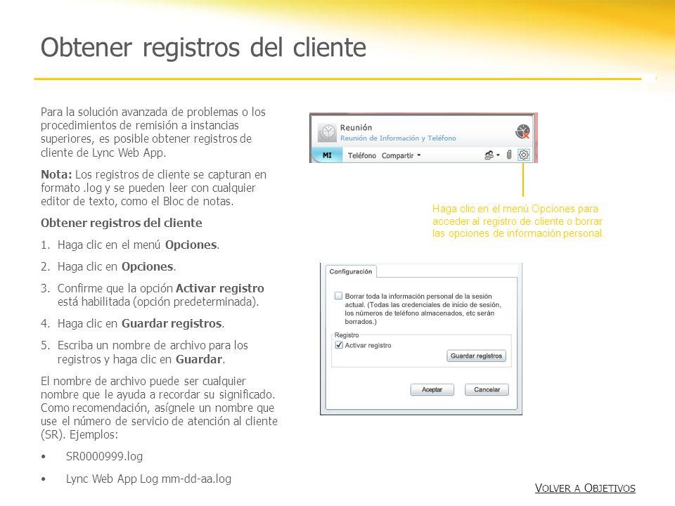 Obtener registros del cliente