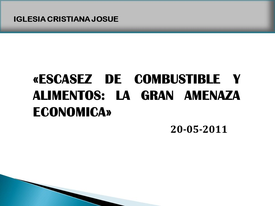 «ESCASEZ DE COMBUSTIBLE Y ALIMENTOS: LA GRAN AMENAZA ECONOMICA»
