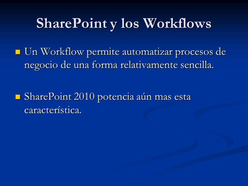 SharePoint y los Workflows