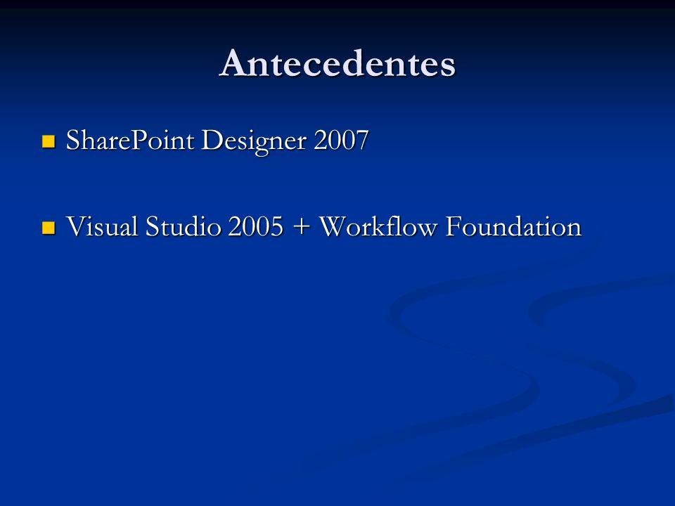 Antecedentes SharePoint Designer 2007