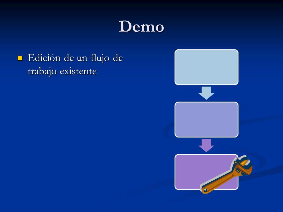 Demo Edición de un flujo de trabajo existente