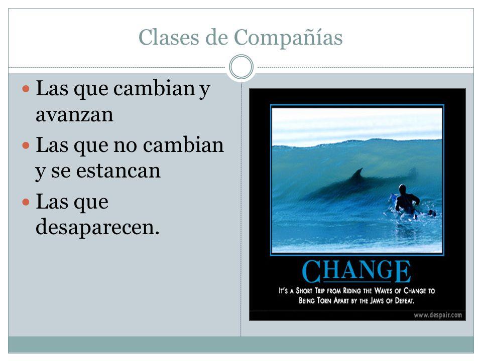 Clases de Compañías Las que cambian y avanzan