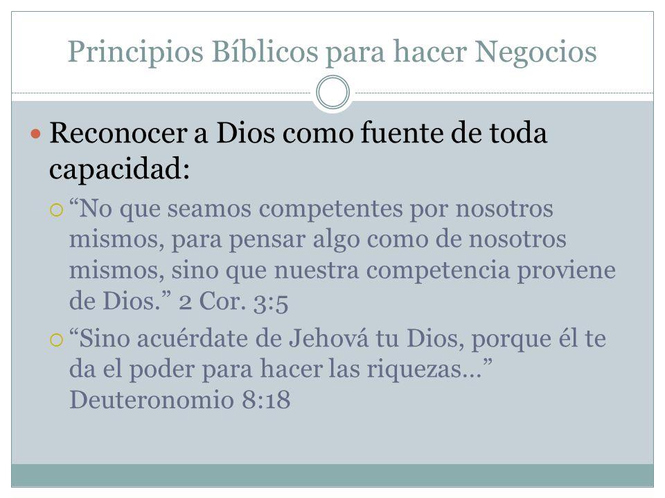 Principios Bíblicos para hacer Negocios