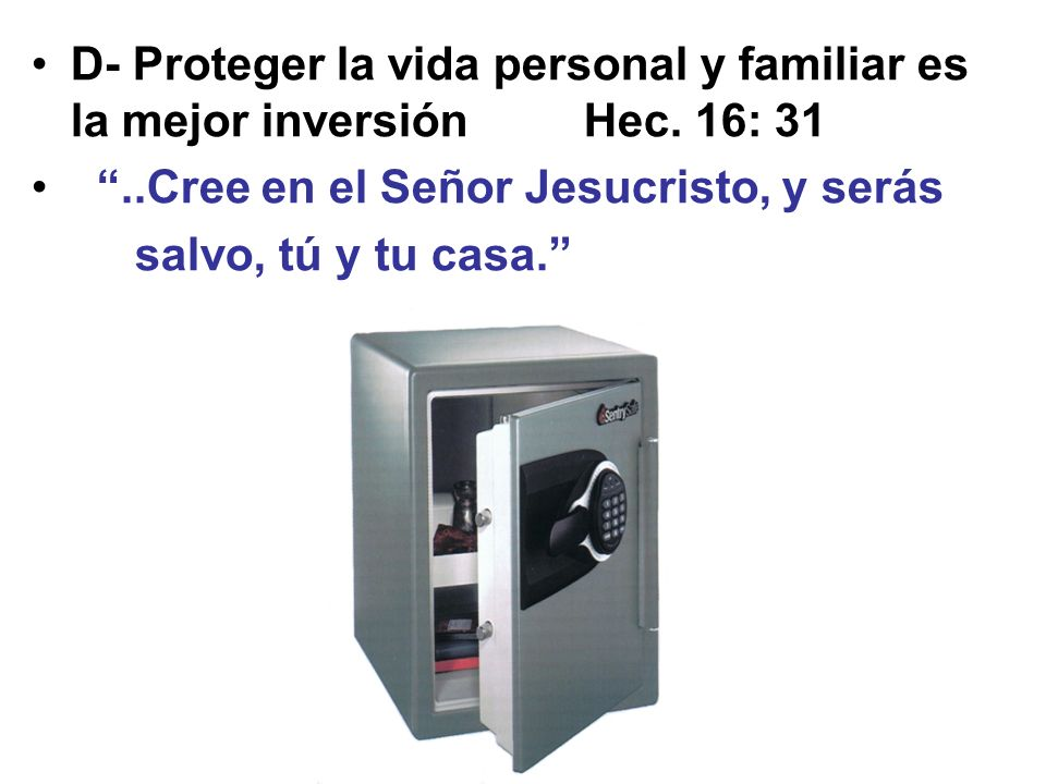 D- Proteger la vida personal y familiar es la mejor inversión Hec