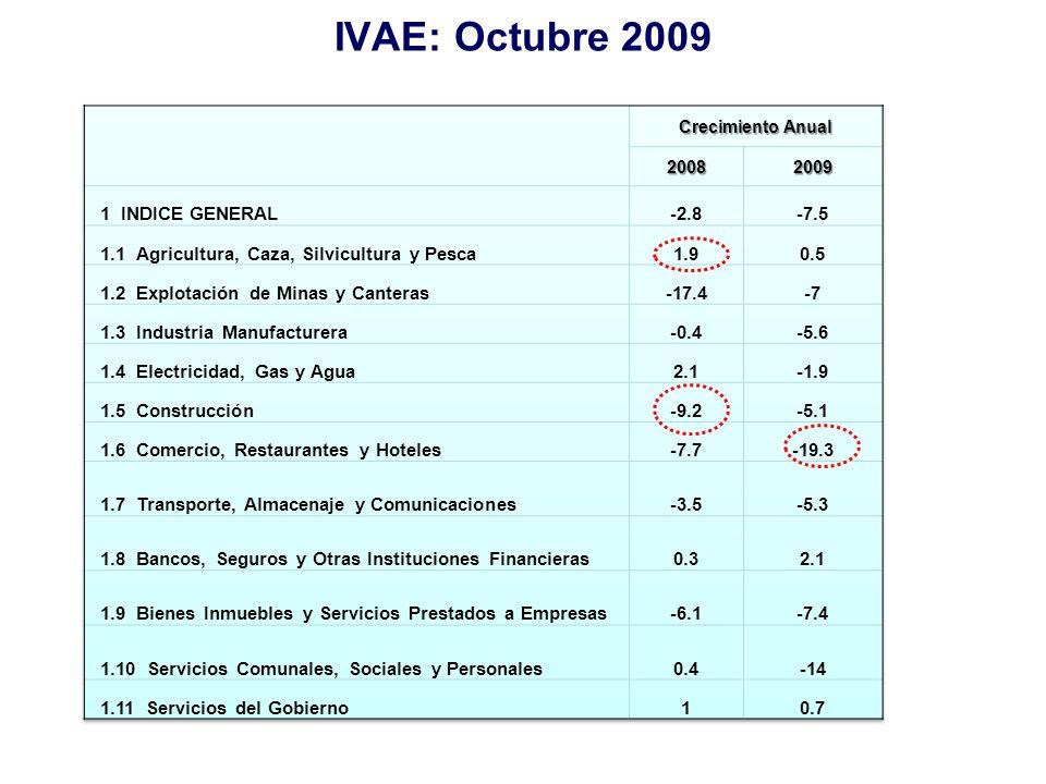 IVAE: Octubre 2009 1 INDICE GENERAL -2.8 -7.5