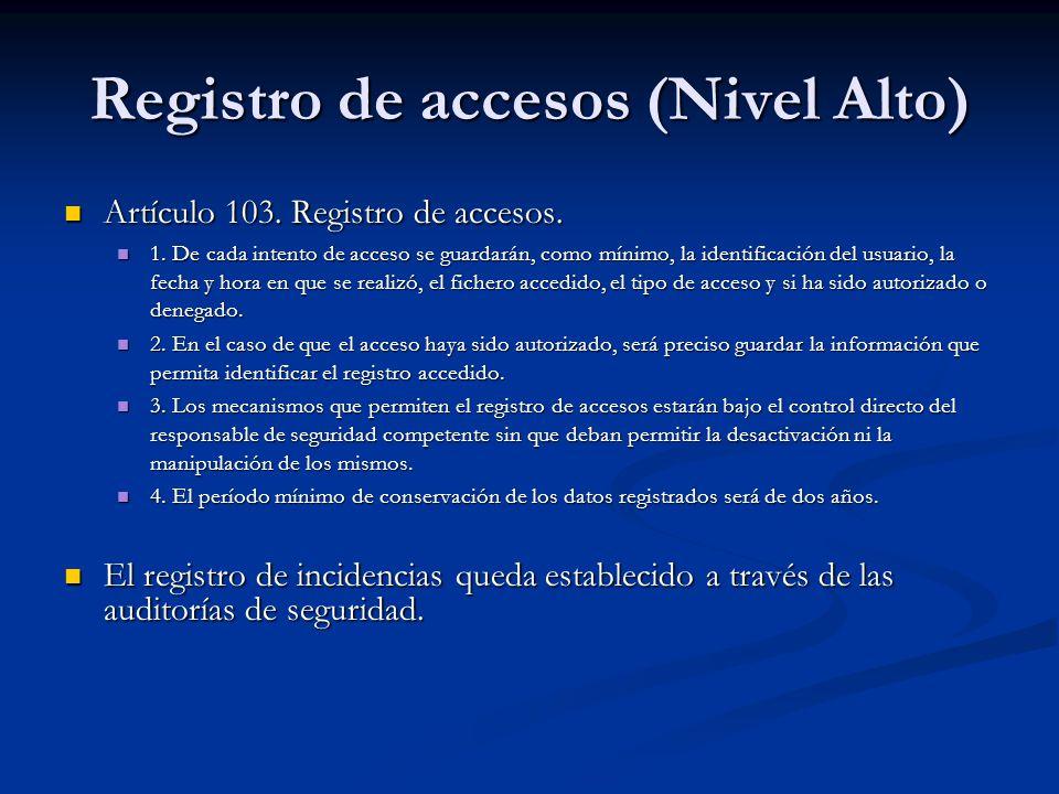 Registro de accesos (Nivel Alto)