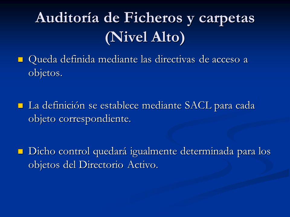 Auditoría de Ficheros y carpetas (Nivel Alto)