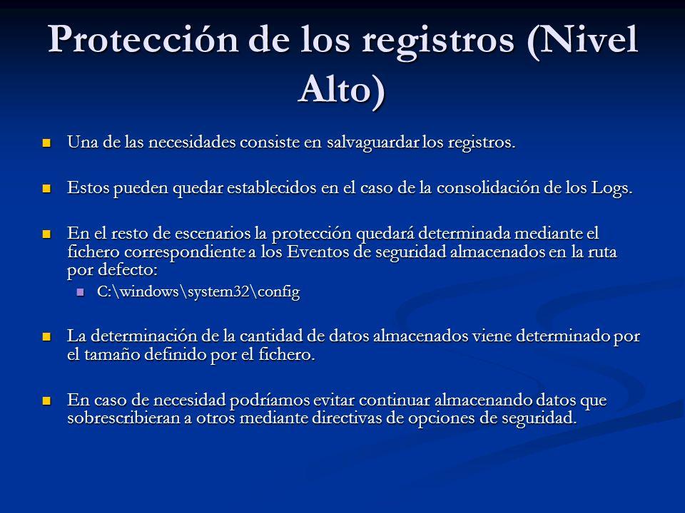 Protección de los registros (Nivel Alto)