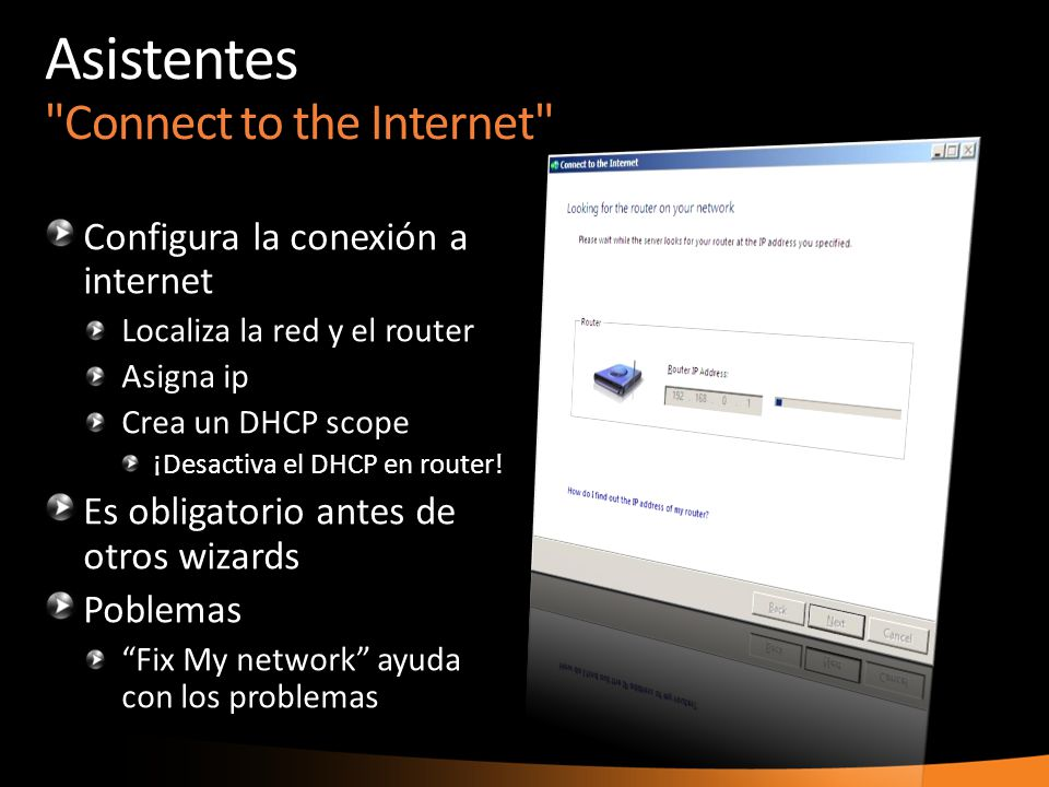 Asistentes Connect to the Internet