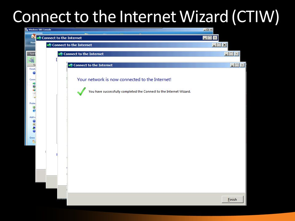 Connect to the Internet Wizard (CTIW)