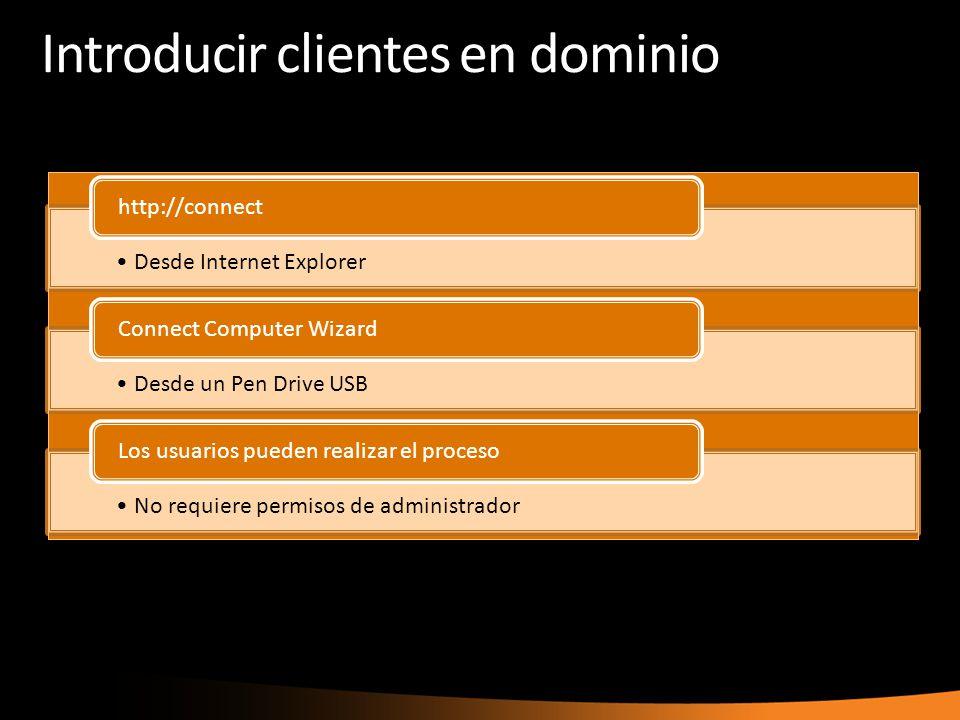 Introducir clientes en dominio