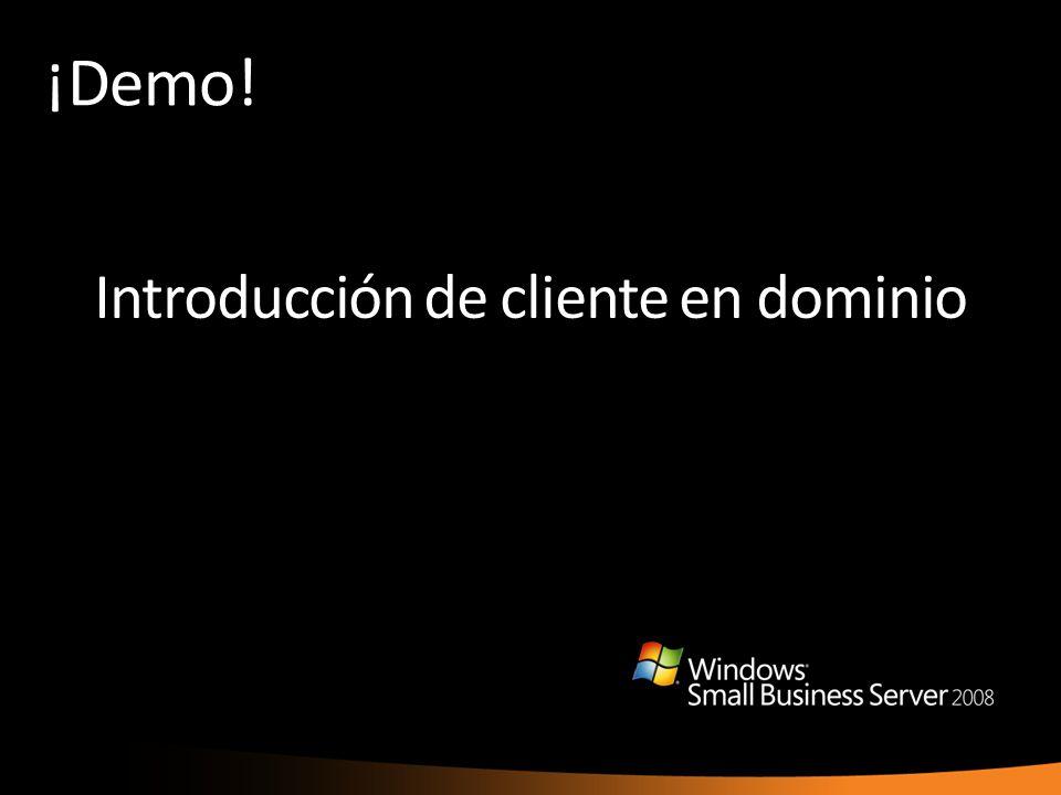Introducción de cliente en dominio