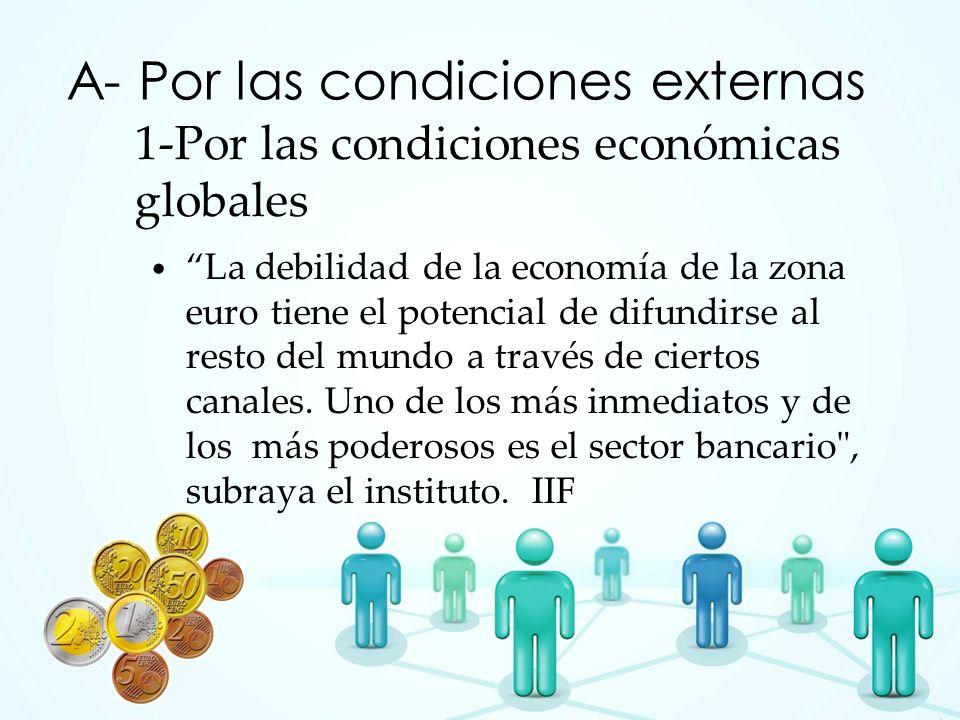 1-Por las condiciones económicas globales