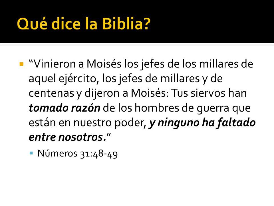 Qué dice la Biblia
