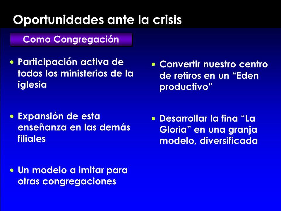 Oportunidades ante la crisis