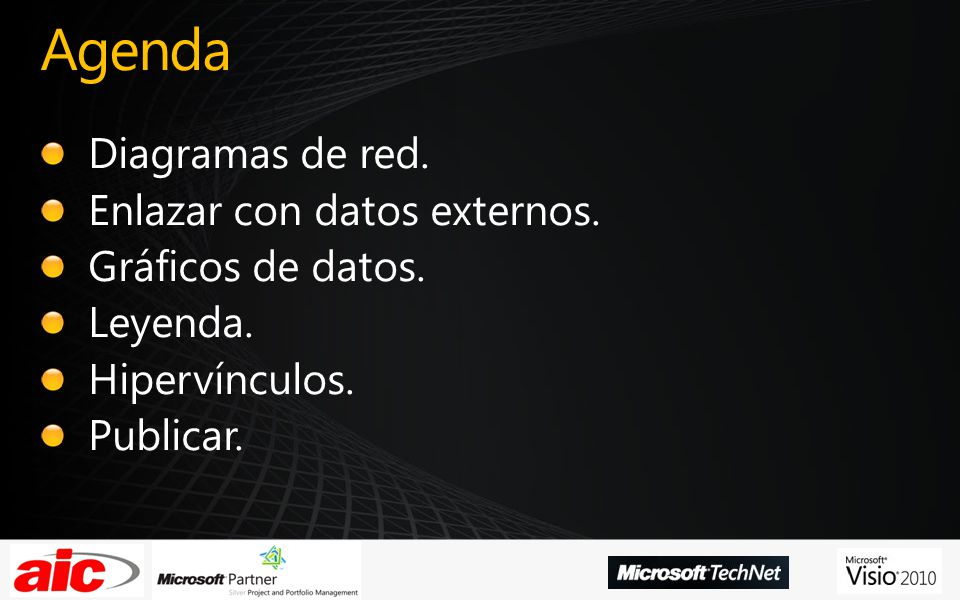 Agenda Diagramas de red. Enlazar con datos externos.