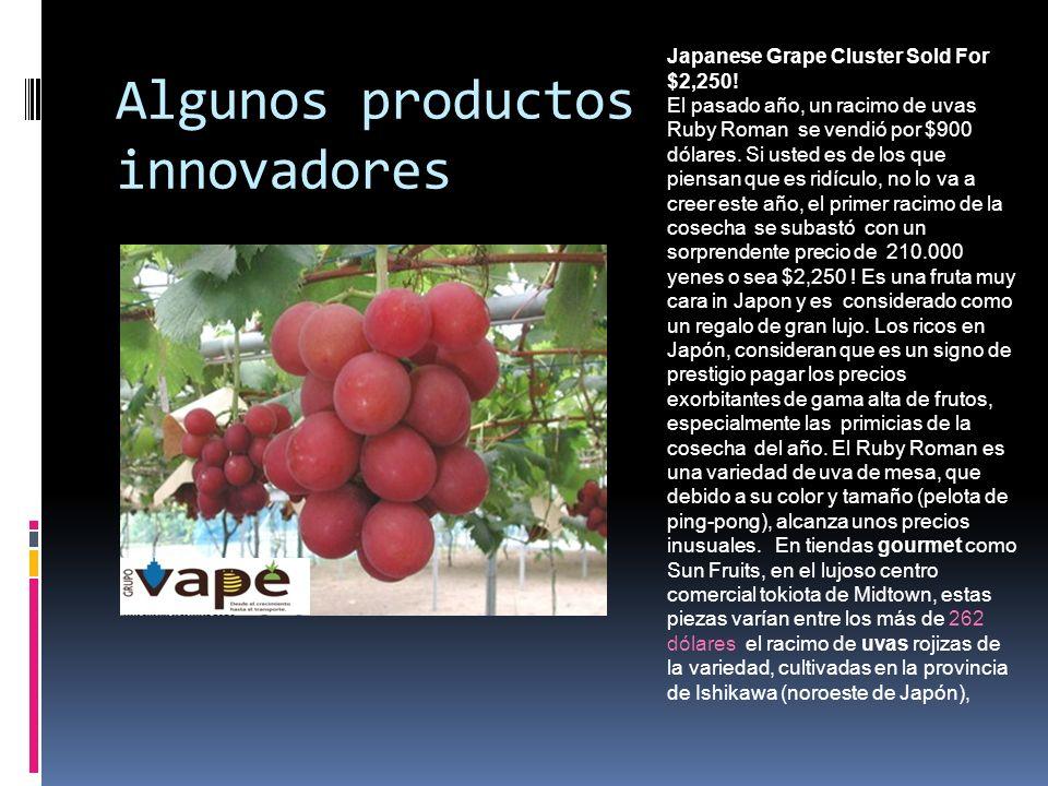Algunos productos innovadores