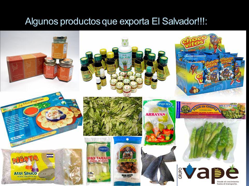 Algunos productos que exporta El Salvador!!!: