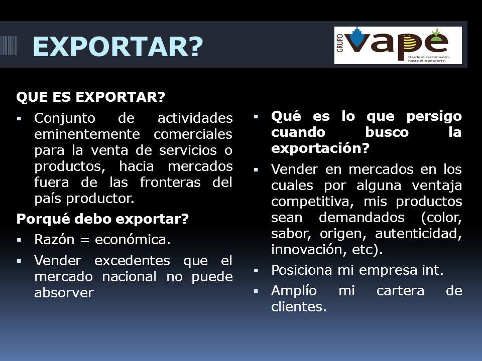 EXPORTAR QUE ES EXPORTAR