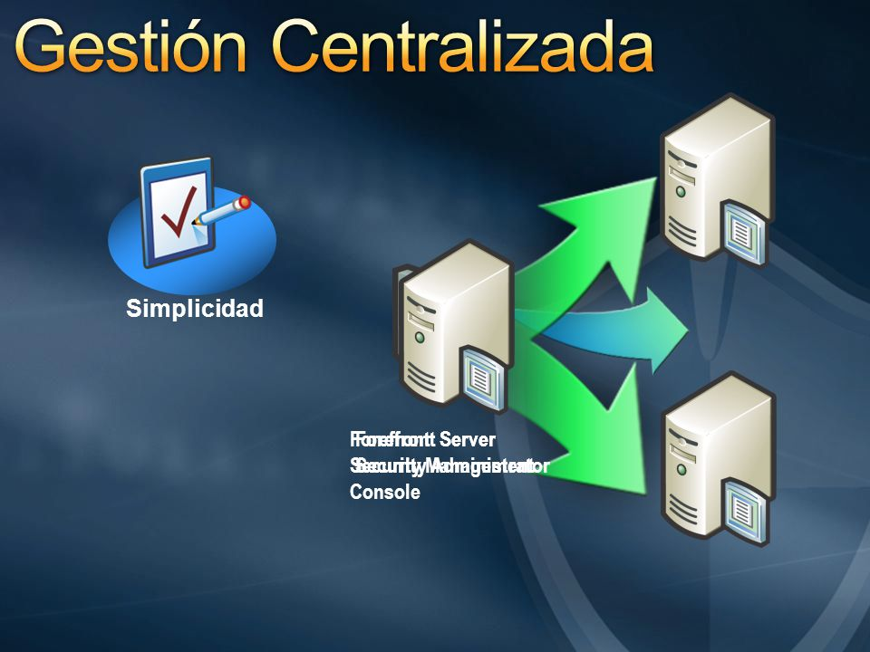 Gestión Centralizada Simplicidad Forefront Server Security Management