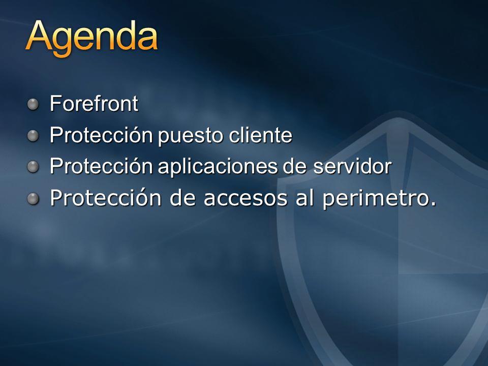 Agenda Forefront Protección puesto cliente