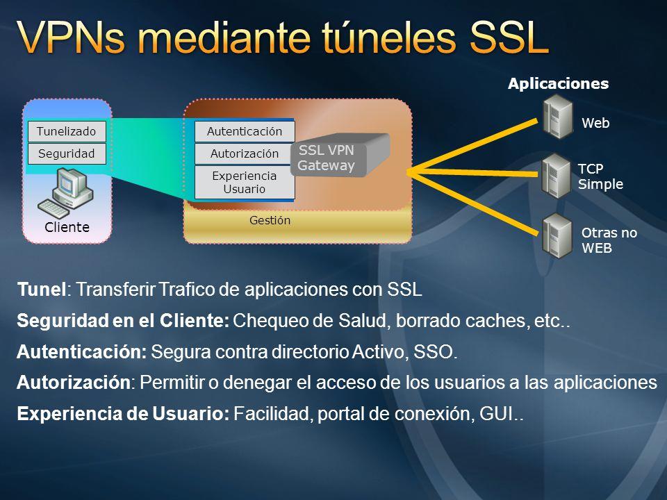 VPNs mediante túneles SSL