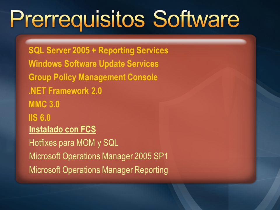 Prerrequisitos Software