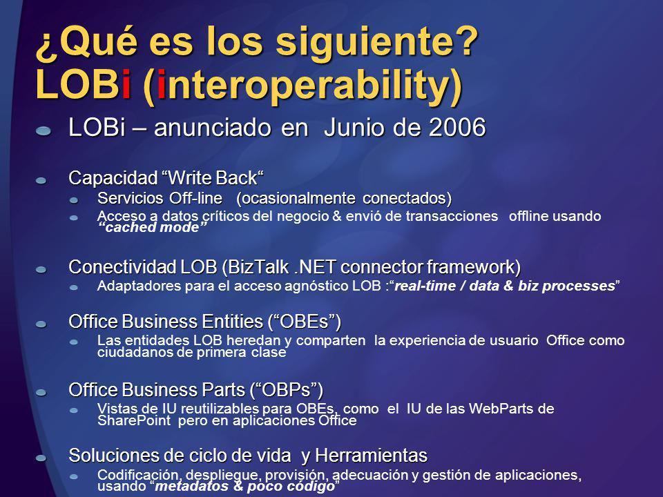 ¿Qué es los siguiente LOBi (interoperability)