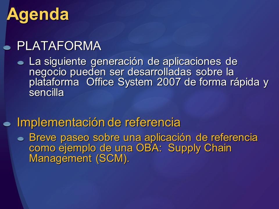 Agenda PLATAFORMA Implementación de referencia