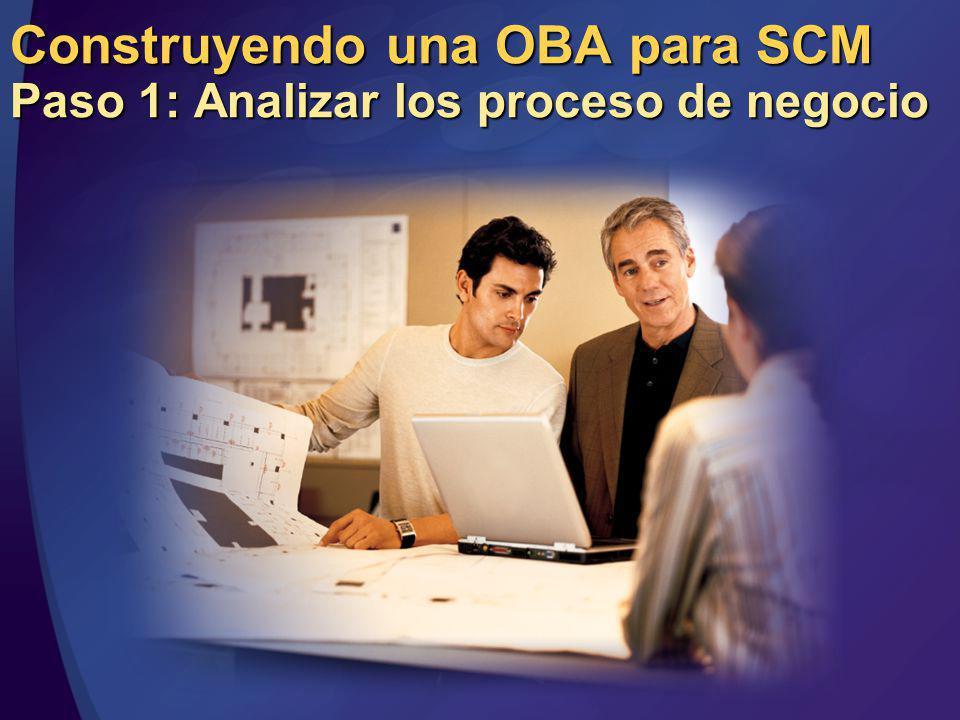 Construyendo una OBA para SCM Paso 1: Analizar los proceso de negocio