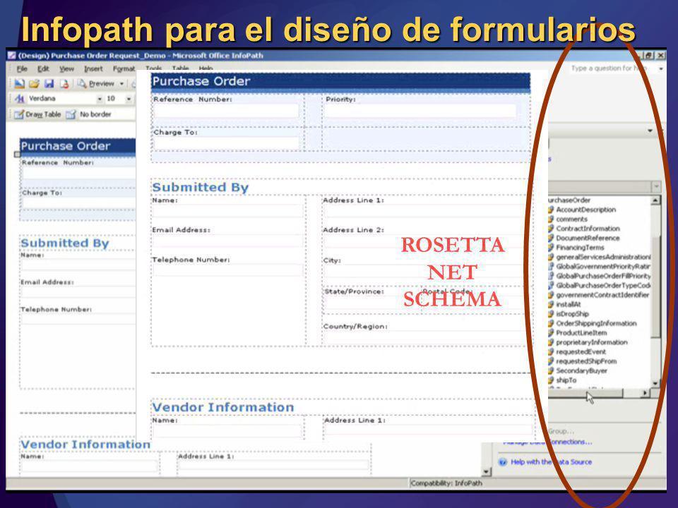 Infopath para el diseño de formularios