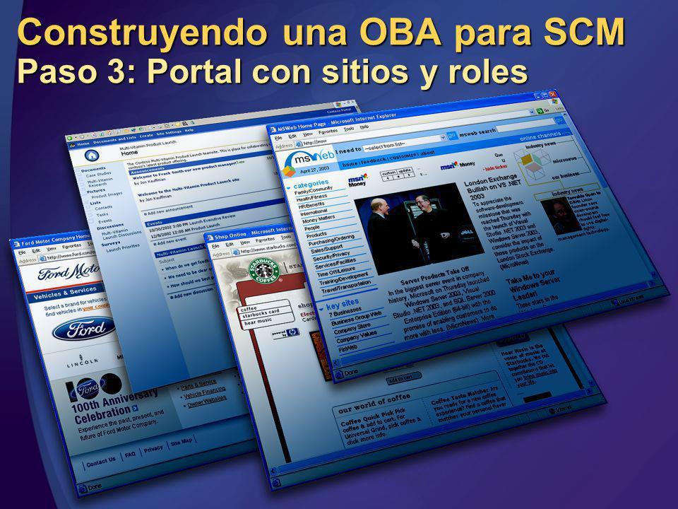 Construyendo una OBA para SCM Paso 3: Portal con sitios y roles