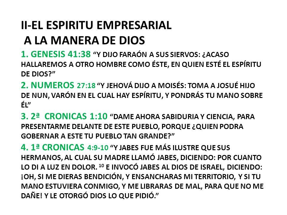 II-EL ESPIRITU EMPRESARIAL A LA MANERA DE DIOS 1
