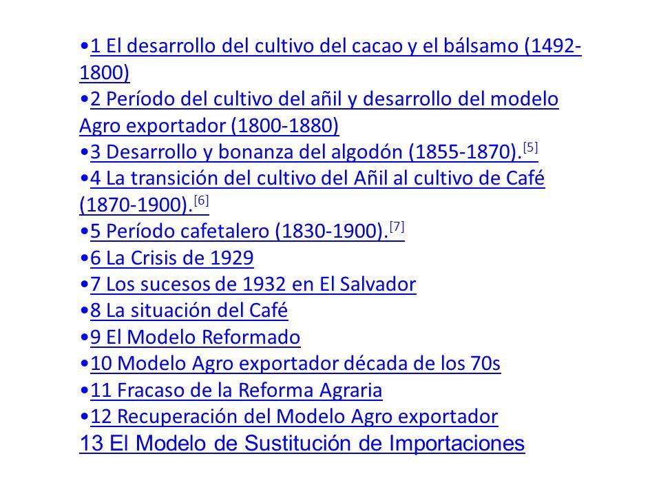 1 El desarrollo del cultivo del cacao y el bálsamo (1492-1800)