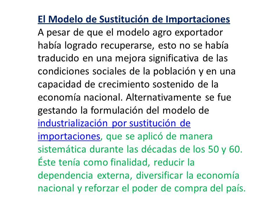 El Modelo de Sustitución de Importaciones