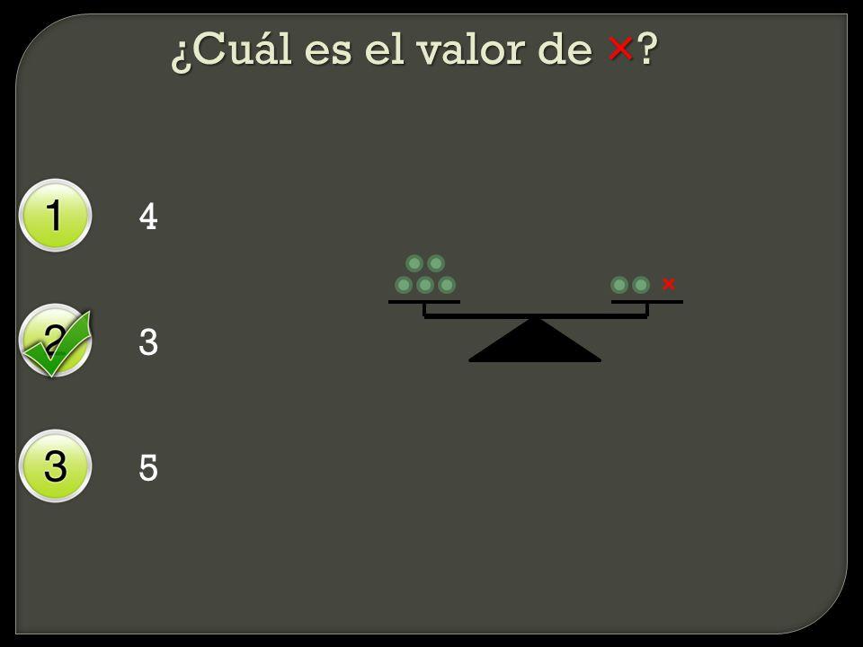¿Cuál es el valor de × 4 × 3 5