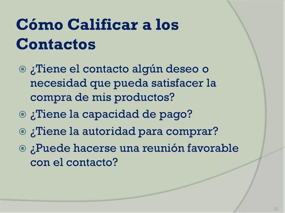 Cómo Calificar a los Contactos