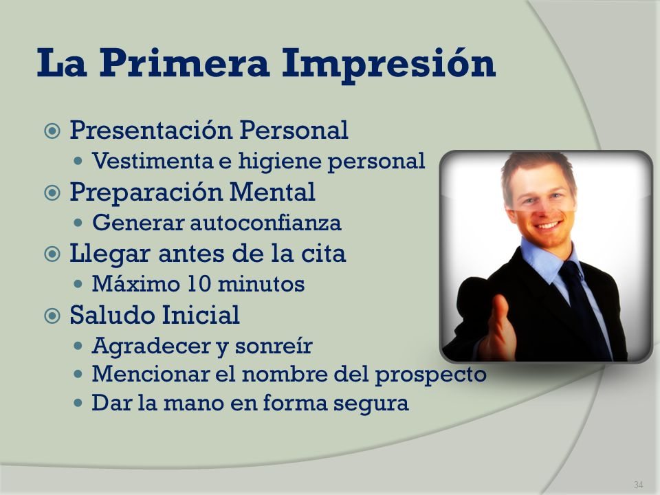 La Primera Impresión Presentación Personal Preparación Mental