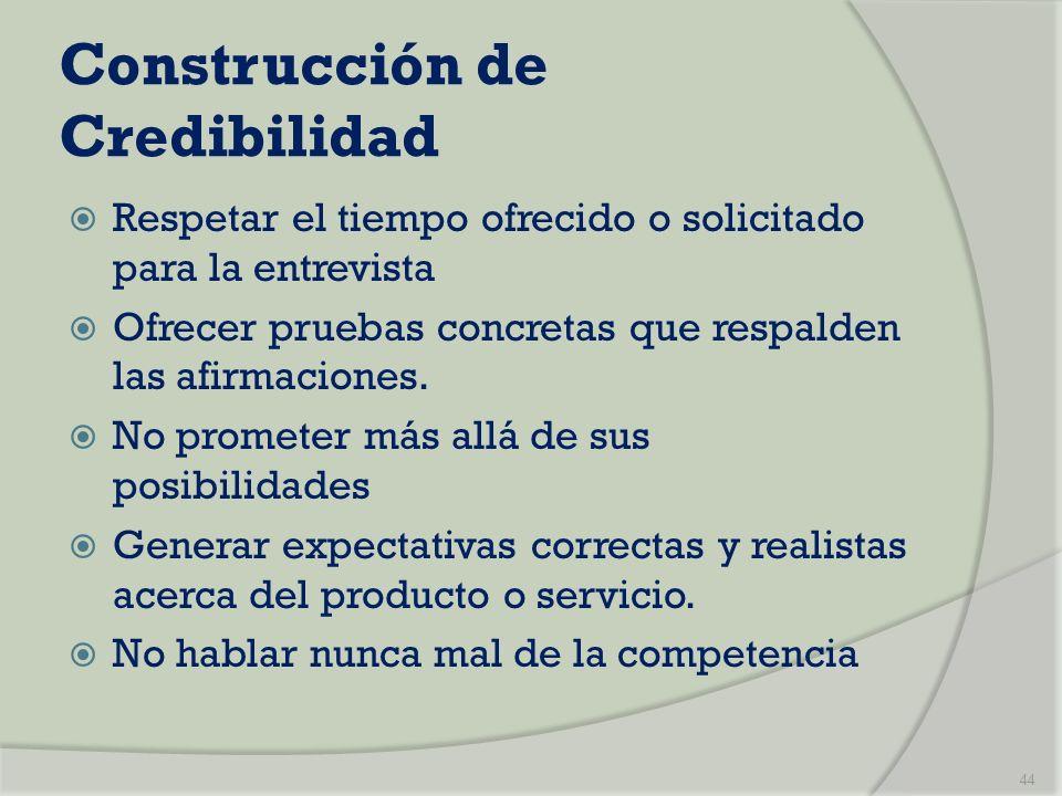 Construcción de Credibilidad