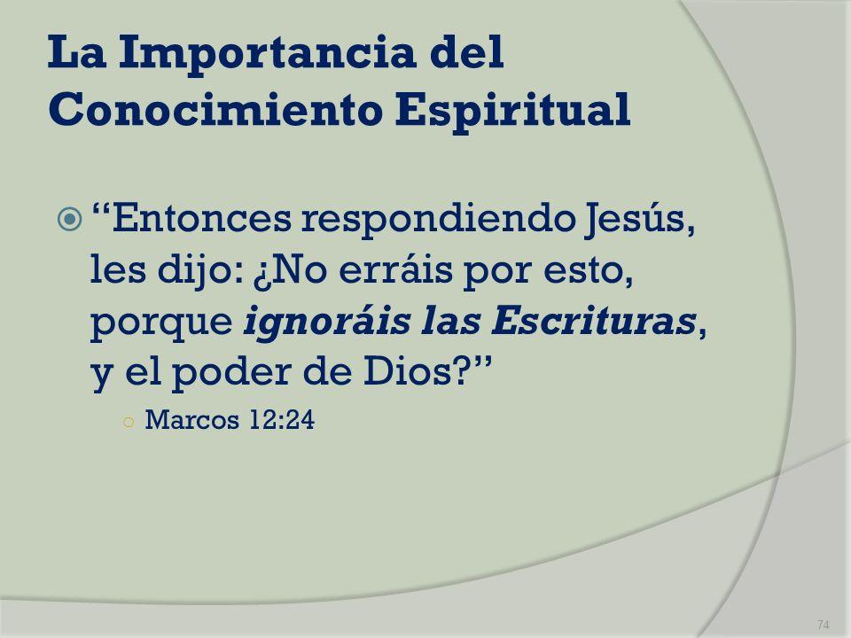 La Importancia del Conocimiento Espiritual