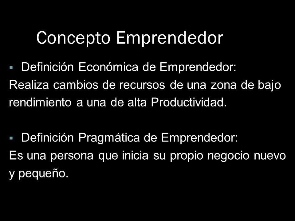 Concepto Emprendedor Definición Económica de Emprendedor: