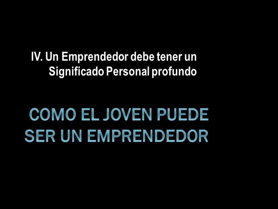 Como el Joven puede ser un Emprendedor