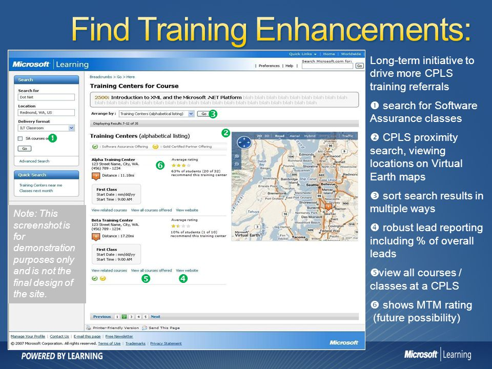 Find Training Enhancements: