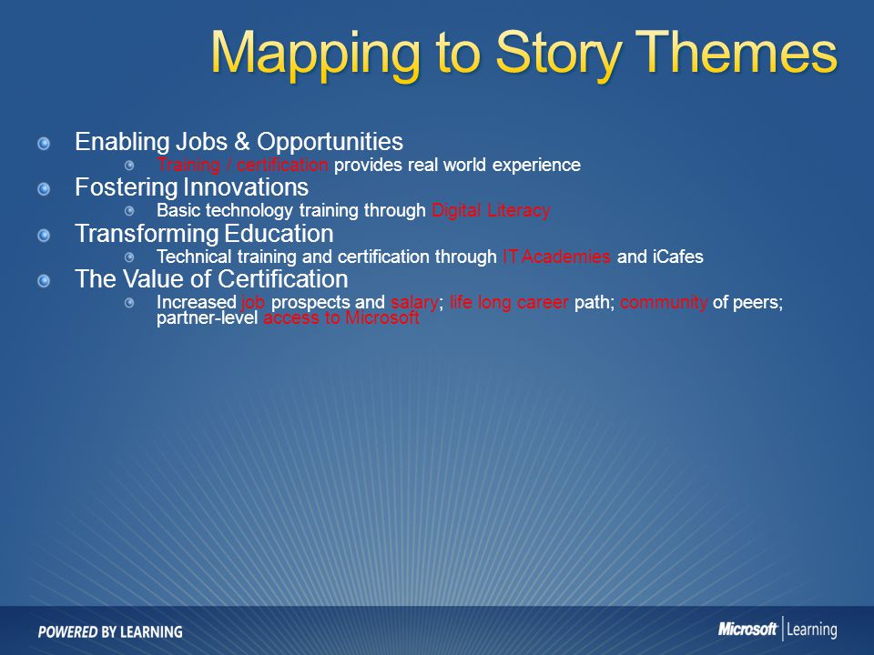 Mapping to Story Themes